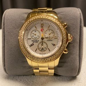 Michele Jetway Diamond & Mother of Pearl Watch
